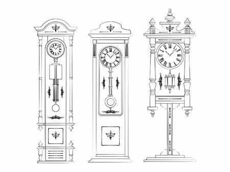 Floor clock artistic silhouette