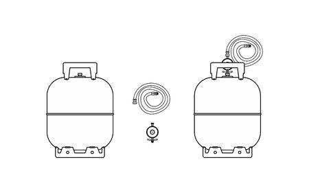 Gas bottle icon Vetores