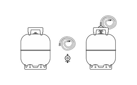 Gas bottle icon Imagens - 105328995