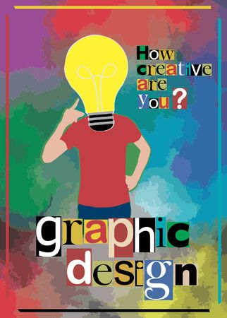 Creative flyer for graphic design Illustration