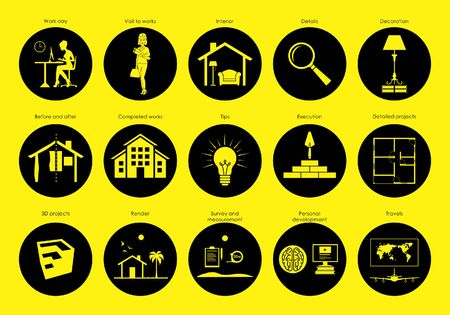 Icons for your social networks circle Vektorové ilustrace