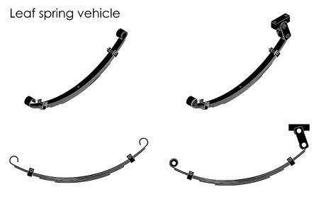 Leaf spring vehicle. Black fill.