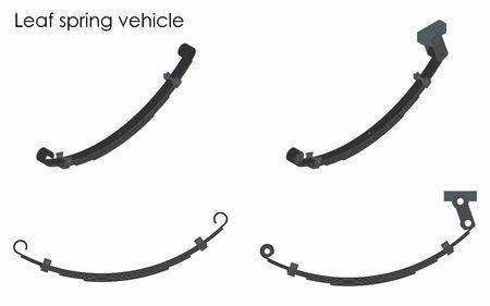 Leaf spring vehicle. Ilustração