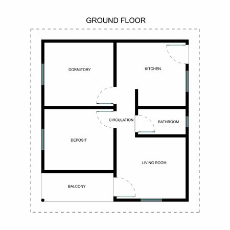 Ground floor Standard-Bild - 105329144