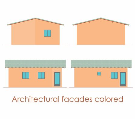 Architectural Facades colored