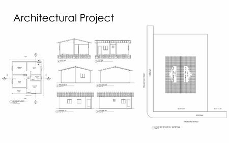 architectural project  イラスト・ベクター素材