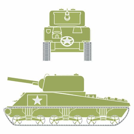 M4 sherman tank. Without outline.