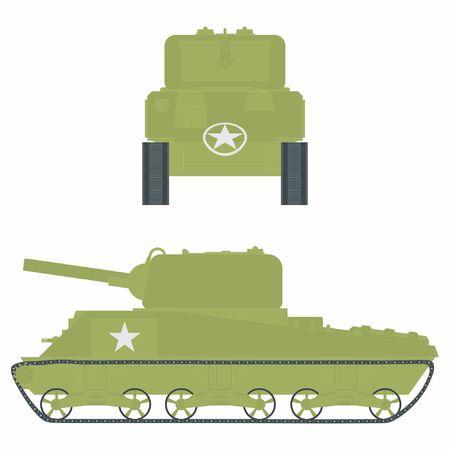M4 sherman tank. Vetores