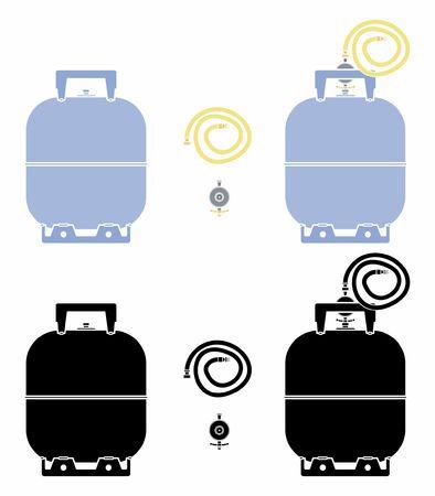 Bombola del gas Senza contorno e riempimento nero.
