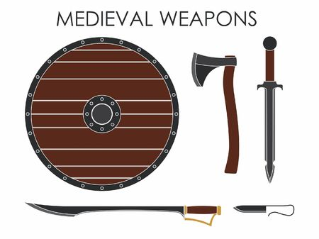 Medieval Weapons without silhouette