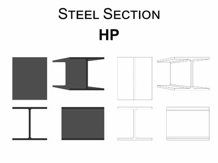 Steel section HP