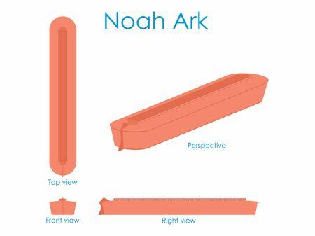 Noah Ark colored Illustration