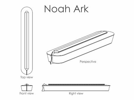 Noah Ark outline only