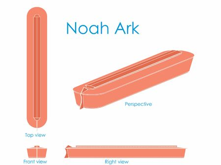 Noah Ark without outline Vetores