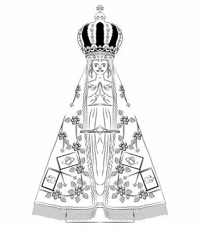 Our Lady Aparecida outline only