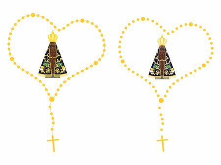 Our Lady Aparecida Colored Rosary