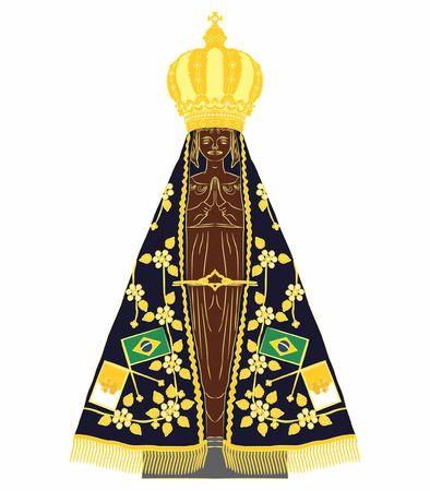 Our Lady Aparecida colored Ilustração