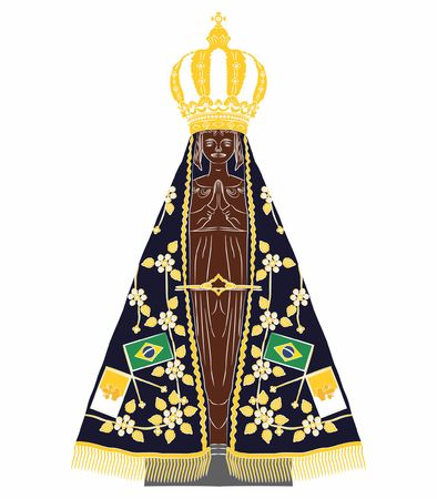 Our Lady Aparecida without outline