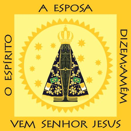 Our Lady Aparecida. Illustration of the place where it is exposed in the basilica of Aparecida.