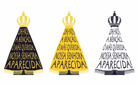 Our Lady Aparecida. Song of praise. Illustration