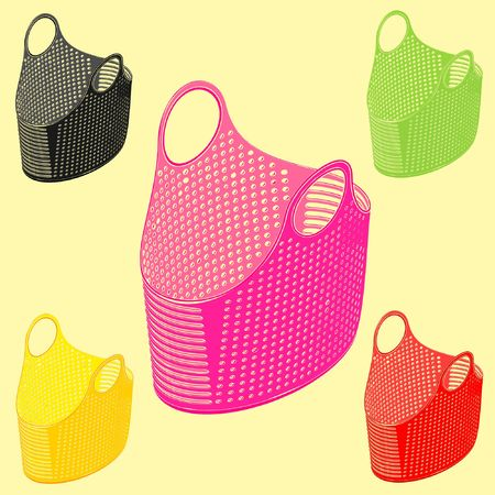 Plastic basket simple with variable colors