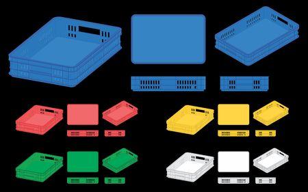 plastic crate Illustration