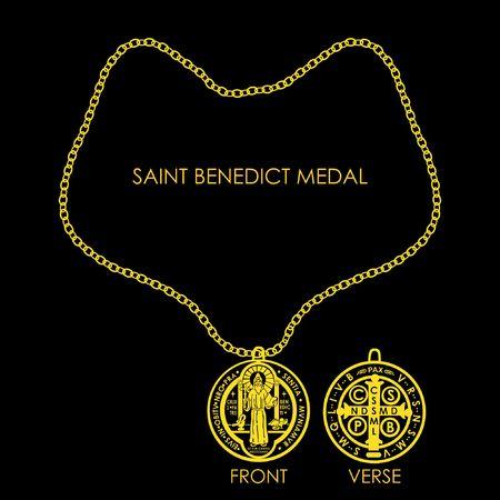 Saint Benedict Medal Golden