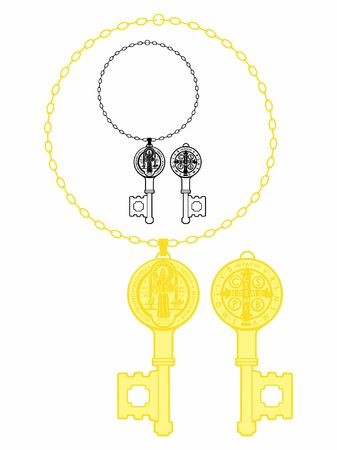 Saint Benedict Medal key.