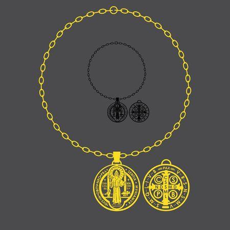 Saint Benedict full chain