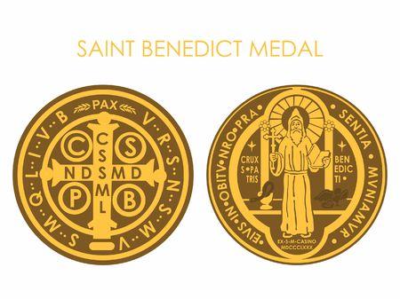 Saint Benedict Medal Gold