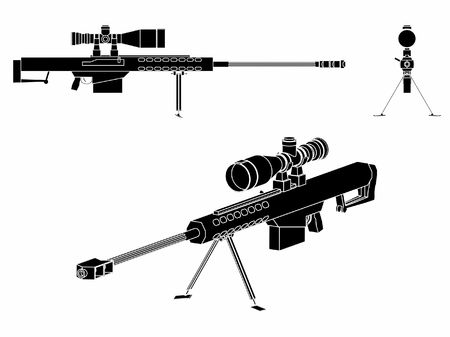 Sniper gun black fill