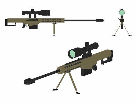 Sniper gun colored