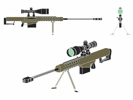 Sniper gun without outline