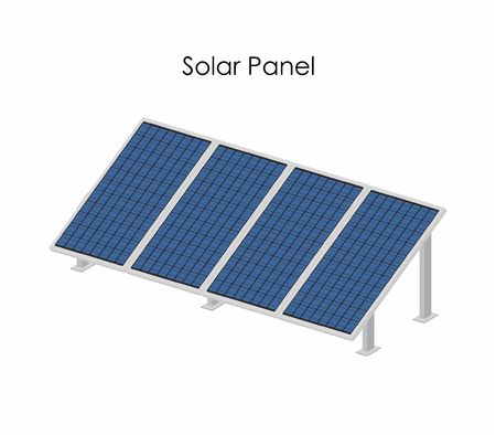 Solar panel with structure