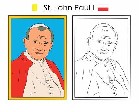 St. John Paul II  イラスト・ベクター素材