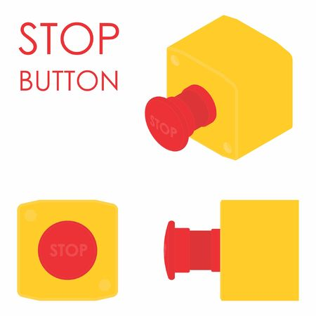 Stop button colored