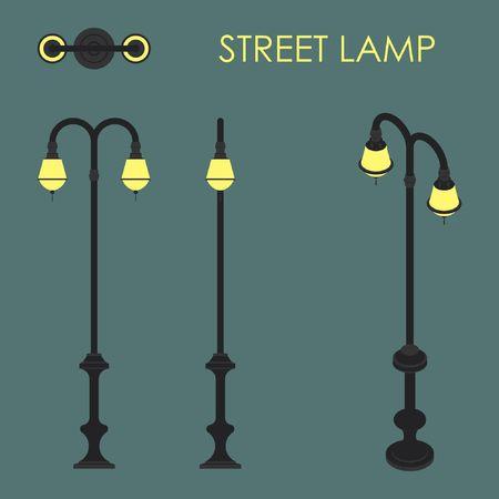 street lamp Illusztráció