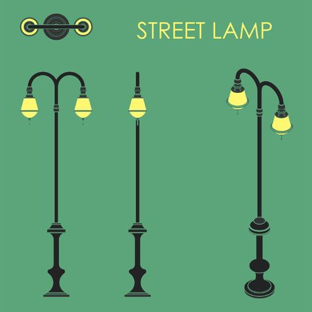 Street lamp without outline Stock Vector - 105329452