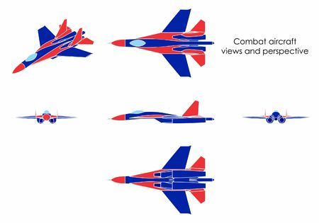 Combat aircraft. Without outline.