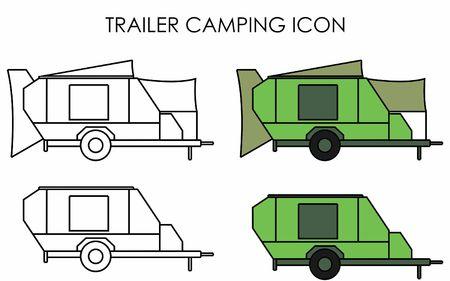 Trailer camping icon Ilustração
