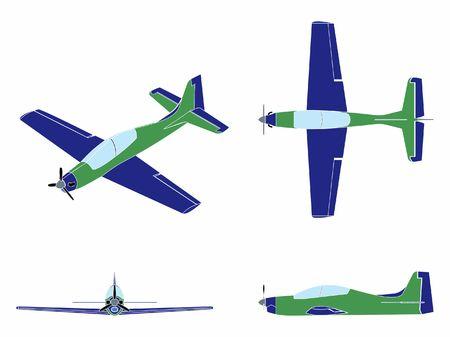 Airplane Tucano colored. Without outline. Ilustração