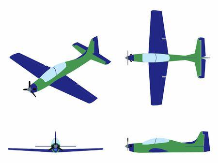 Avion Tucano coloré.