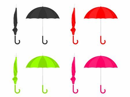 Umbrella closed and open colored