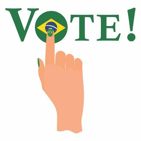 Brazilian vote Banco de Imagens - 105414977