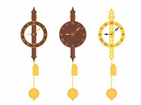 Wall Classic clock original colored