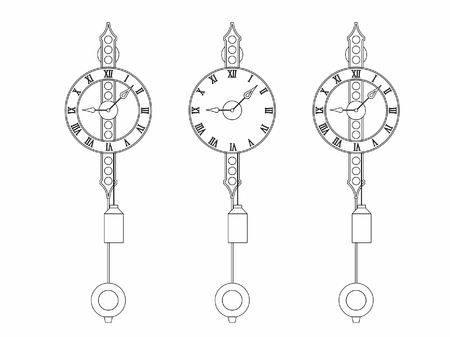 Wall Classic clock outline only