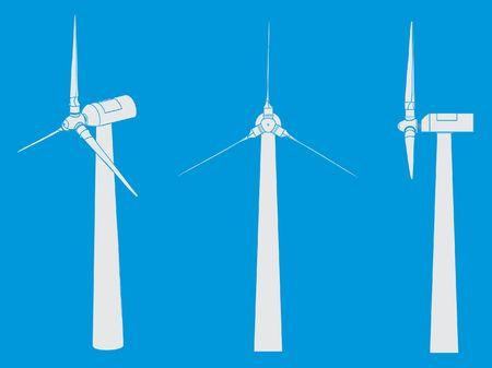 Wind Tower without outline Ilustração