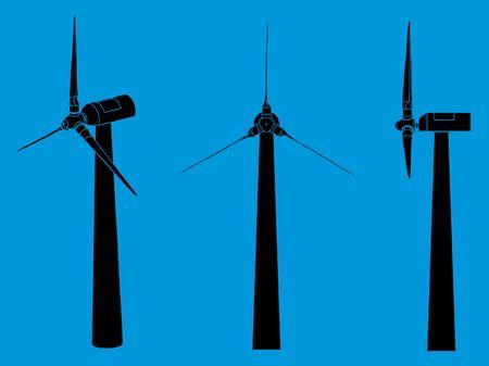 Wind Tower black fill Ilustração