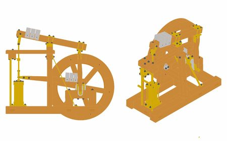 Wood Beam Engine original and simple colored