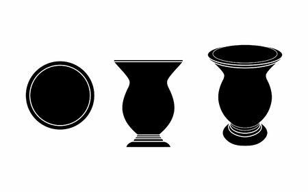 Cuia of Yerba mate black fill Illustration
